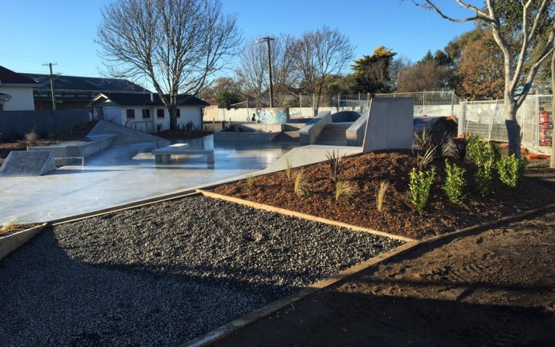 Leeston Skatepark Completed Work